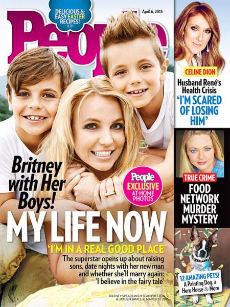 Britney Spears y sus retoños comparten portada