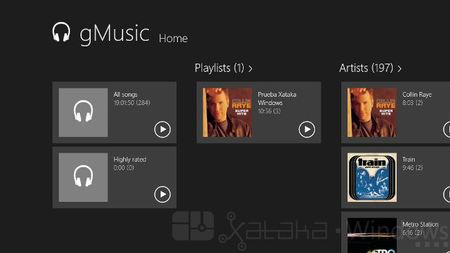 gMusic, un cliente Modern UI para Google PLay Music. A fondo