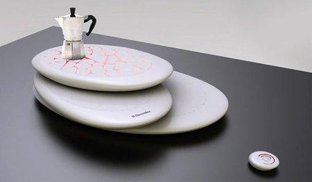 Placa de inducción futurista