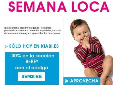 Kiabi... ¡Hoy un 30% de descuento en su web en la sección de bebés!