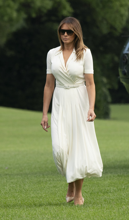 melania trump vestido blanco