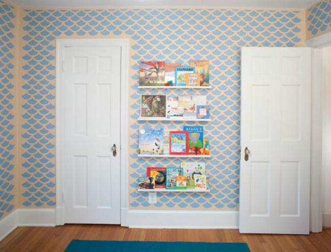 Pared opuesta del dormitorio de Tintin