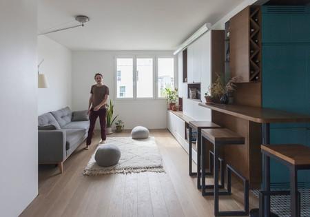 Un apartamento en París sin paredes pero muy compartimentado a partir de sus 43 m2