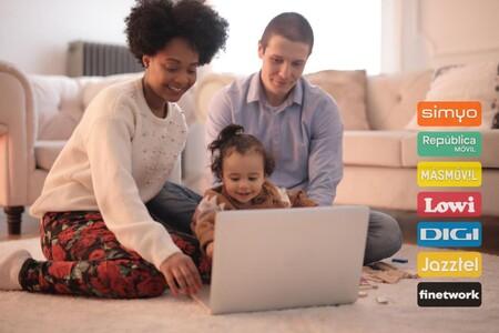 Comparamos los combinados familiares de fibra y dos móviles por menos de 40 euros: Finetwork y Simyo retan a Digi y otros OMVs