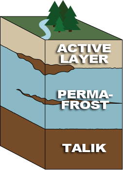 Permafrost Cross Section