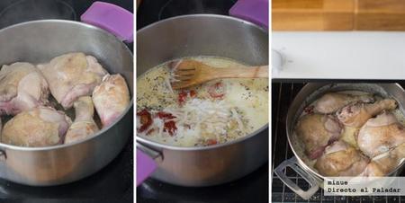Pollo Crema Tomates Elaboracion