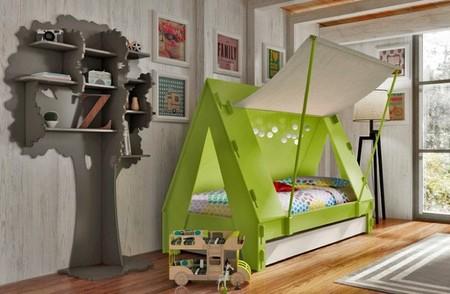 Adorables camas inspiradas en tiendas, caravanas y casitas del árbol
