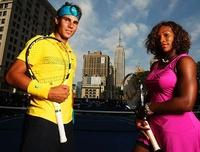 Los tenistas del momento posan para Nike