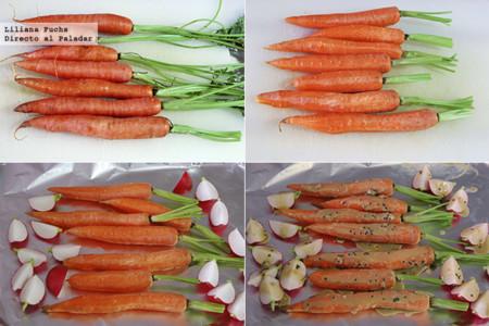 Zanahorias Horno Mostaza Pasos