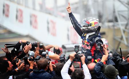 Sebastian Vettel, en la cima del mundo por tercera vez