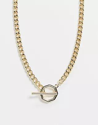 Collar de cadena dorado de DesignB