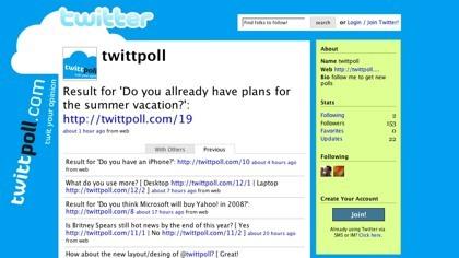 Twittpoll, encuestas en Twitter