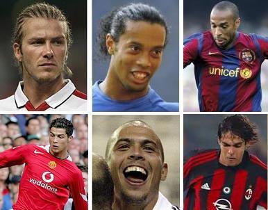 Los futbolistas que más cobran en 2008