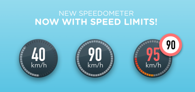 Waze Speed ​​Limits Launch Banner Blue