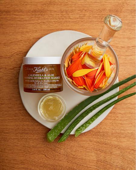 Refresca, calma e hidrata tu piel con la nueva mascarilla de Caléndula y Aloe de Kiehl's