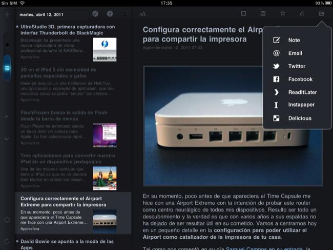 Foto de Lectores RSS para el iPad (4/20)