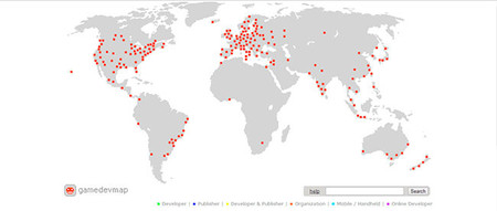 GameDevMap, mapa de estudios de desarrollo y publicación de juegos en todo el mundo