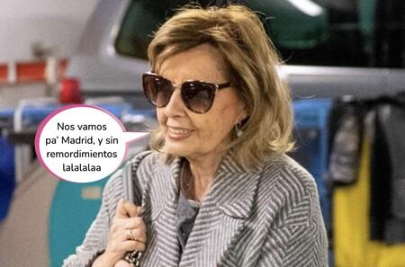 Preocupación por María Teresa Campos: finaliza sus vacaciones en Málaga y regresa a Madrid muy baja de ánimo