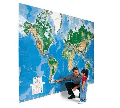 Mapamundi de pared