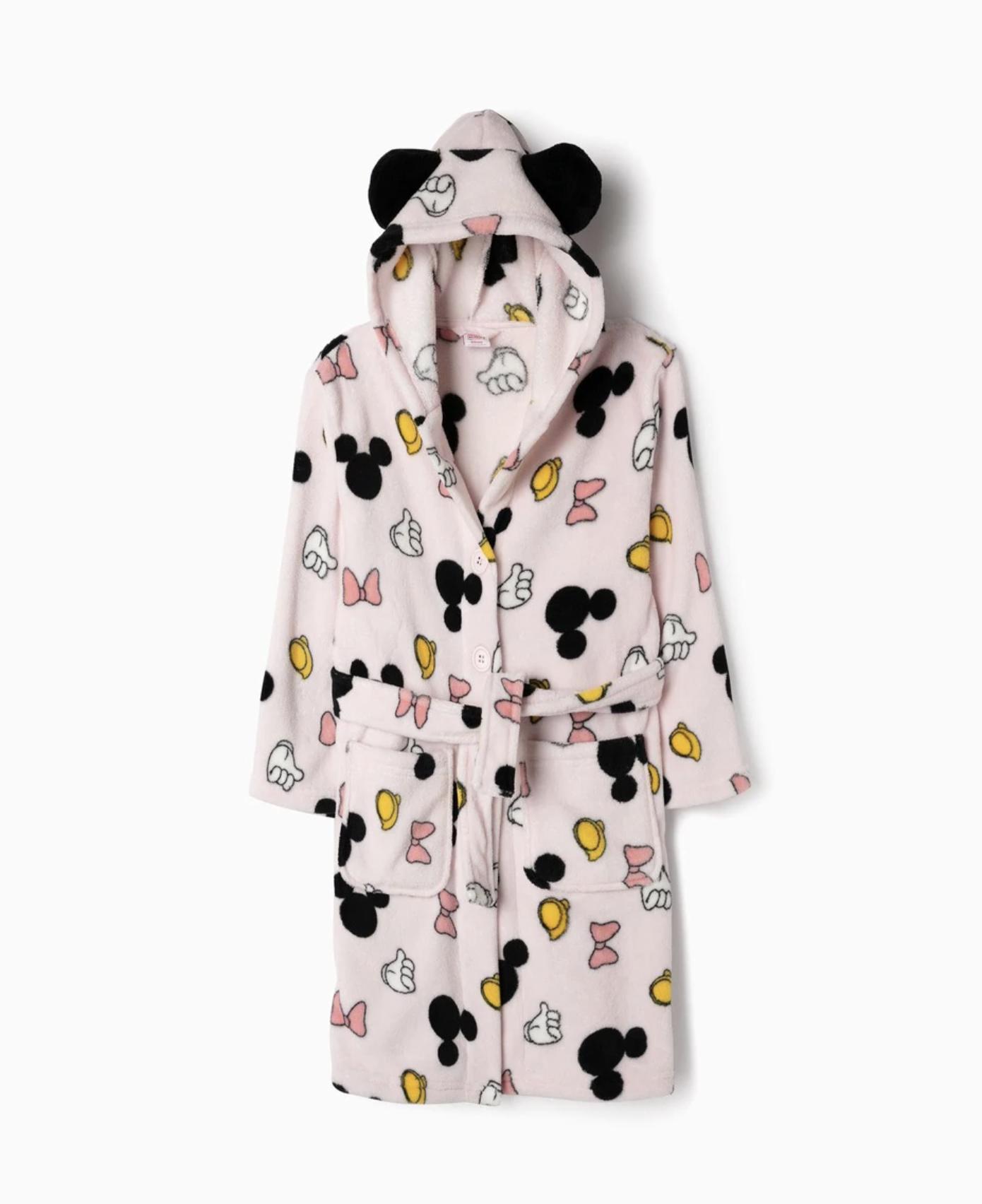 Bata con estampado Disney con capucha