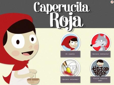 Caperucita Roja es un cuento interactivo para compartir con los mas pequeños en el iPad