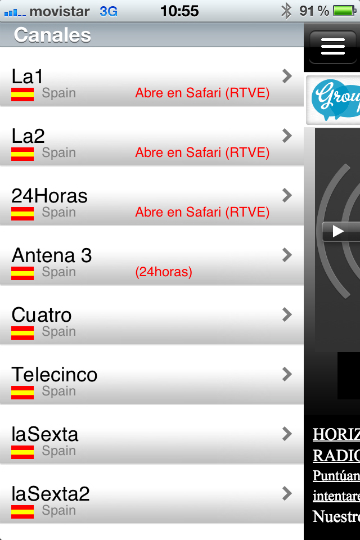 TV+ España app para iphone para ver TV