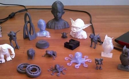 Ejemplo de piezas fabricadas con impresora 3D