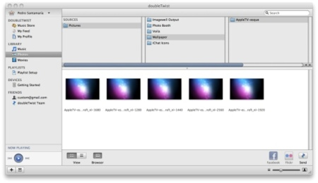 DoubleTwist gestión de imágenes y fotos