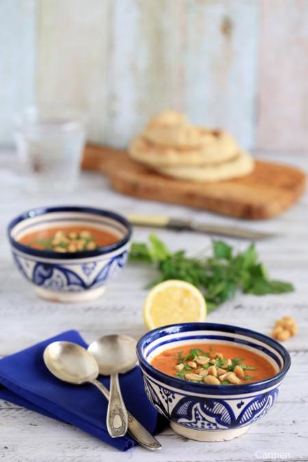 Sopa Fria De Tomate Marroqui