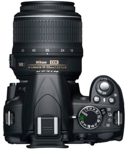 Nikon D3100 desde arriba