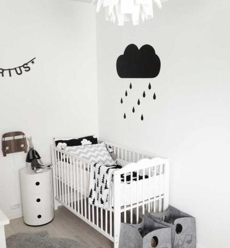 Estampados gr ficos en blanco y negro para decorar el - Dormitorios blanco y negro ...