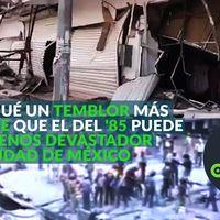 Por qué un temblor mucho más fuerte que el del '85 pudo ser menos devastador en Ciudad de México, te lo contamos en video