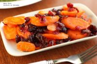 Zanahorias glaseadas con arándanos. Receta