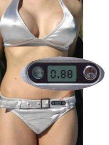 Bikini que mide la intensidad del sol