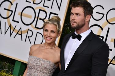Elsa Pataky Y Chris Hesmworth se lucen cosa mala en los Globos de Oro 2017