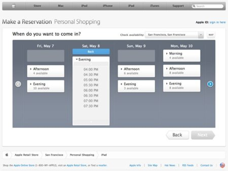apple store horario reservas calendario one to one asistencia servicio tienda