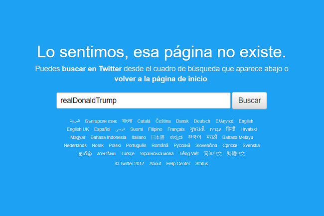Trump No Existe Cuenta Twitter
