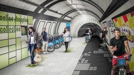 Londres prepara rutas para bicicletas en la ciudad usando túneles del Metro