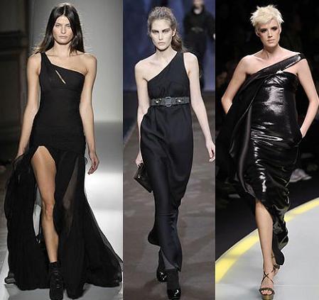 Tendencias en vestidos de noche: escotes asimétricos