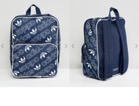 Por 17,49 euros podemos hacernos con esta la mochila clásica mediana con logo integral de adidas Originals en Asos