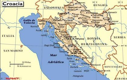 Croacia mapa