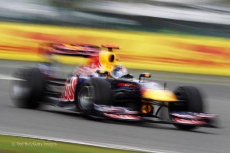 Sebastian Vettel en el Gran Premio de Gran Bretaña de F1 2011