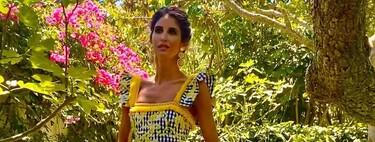 Inés Domecq tiene el lookazo de boda perfecto: un impresionante vestido de cuadros vichy