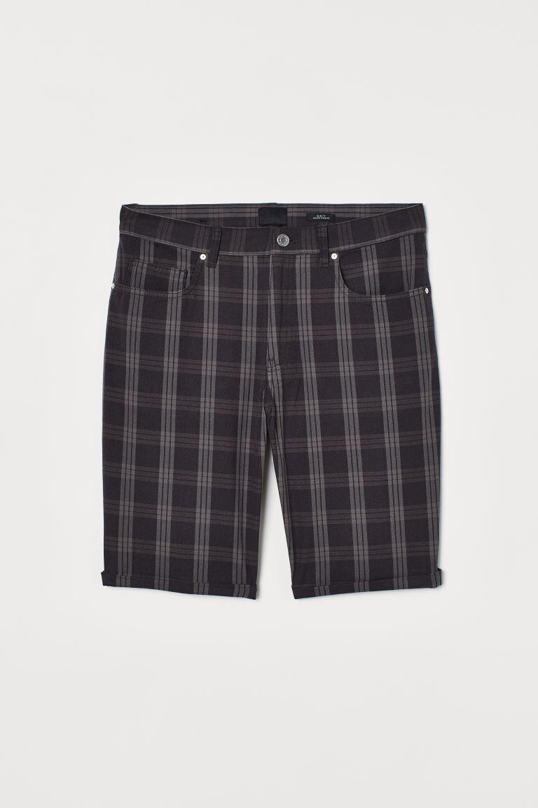 Pantalón corto a cuadros
