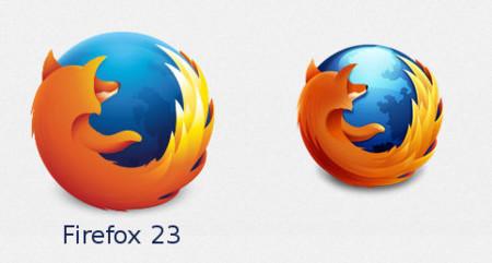 Nuevo logotipo en Firefox 23