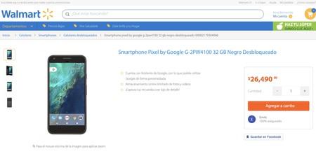 Walmart nos quiere vender un Pixel en más de 26 mil pesos gracias a que Google no vende en México de forma oficial (Actualizado)