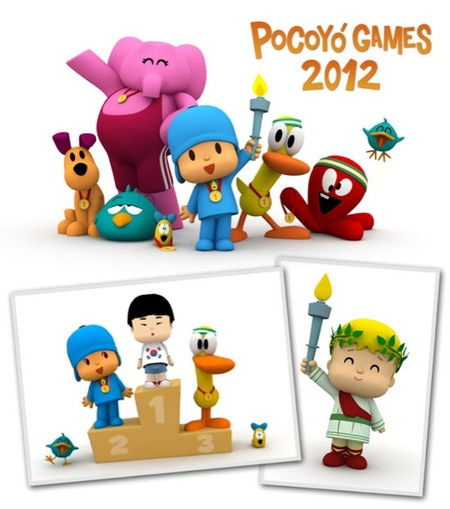 Pocoyó nos anima a participar en los Pocoyó Games 2012 y también estuvo en El Chupete 2012