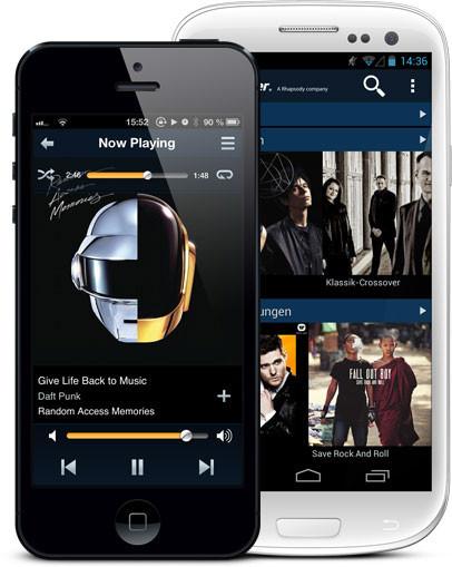 Vodafone y Napster presentan candidatura a la música en streaming: 7 euros al mes