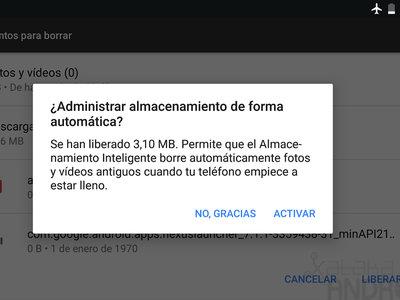 Cómo activar el almacenamiento inteligente de Android 7.1 Nougat