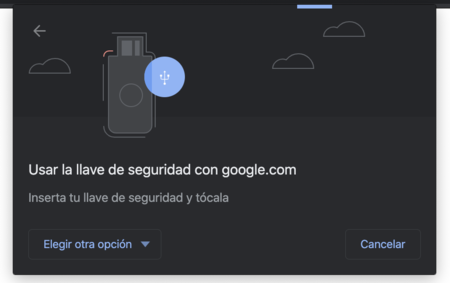 Chrome Uso Llave Seguridad Hardware